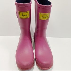 Joules Pink Rain Boots